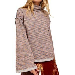 Free People Sunny Days Turtle Neck Sweater Kimono